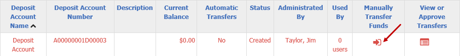 Manually Transfer Funds icon