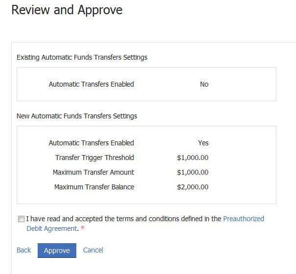 Automatic Funds Transfer Ltsa Help
