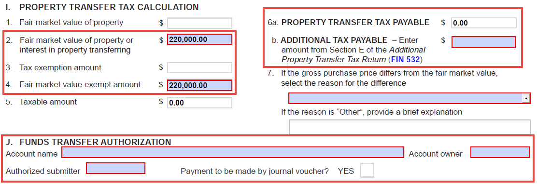 File a Property Transfer Tax Return | LTSA Help